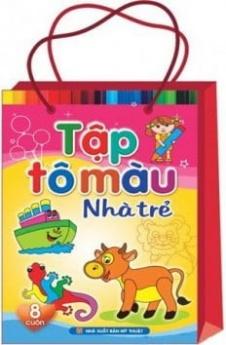 Tập tô màu nhà trẻ (túi 8 cuốn)