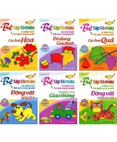 Bé tập tô màu và nhận biết thế giới xung quanh (Túi 6 cuốn)