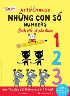 Arty Mouse – Những con số  (Sách viết và xóa được)