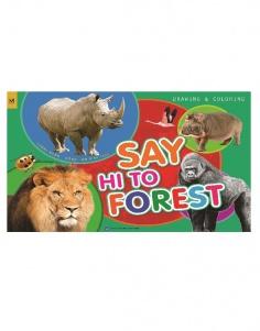 Tập vẽ & Tô màu - Say hi to Forest