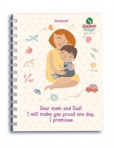 Notebook - Gia đình thân yêu: Dear Mom and Dad