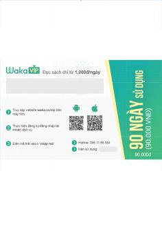 Thẻ đọc sách Waka 90 ngày