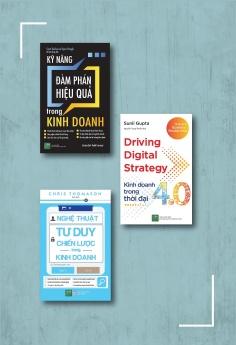 Bộ sách Kỹ năng kinh doanh nâng cao: Kinh doanh trong thời đại 4.0 + Nghệ thuật tư duy chiến lược trong kinh doanh + Kỹ năng đàm phán hiệu quả trong kinh doanh