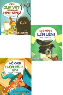 Combo 3 cuốn dành cho trẻ 6 -11 tuổi (Đến quái vật cũng phải đánh răng! + Khi mình lớn lên! + Mở khóa cuốn sách này!)