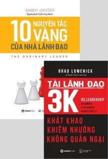 Combo: 10 Nguyên tắc vàng của nhà lãnh đạo + Tài lãnh đạo 3k