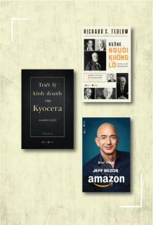 Combo Triết lý kinh doanh của Kyocera + Jeff Bezos và kỷ nguyên Amazon (Tái bản) + Những người khổng lồ trong giới kinh doanh (Tái bản)