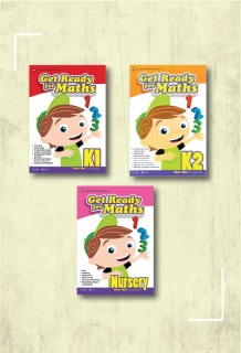 Combo sách Get Ready for Maths K1 + Get Ready for Maths K2 + Get Ready for Maths - Nursery